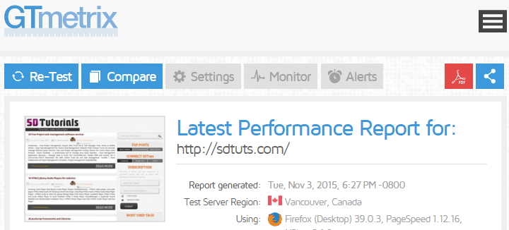 GTmetrix | Website Speed and Performance