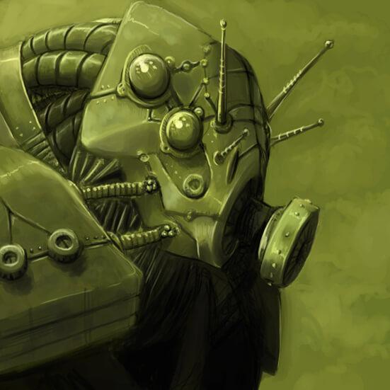 Gas Mask Robot-Bug by ~GraySapphire