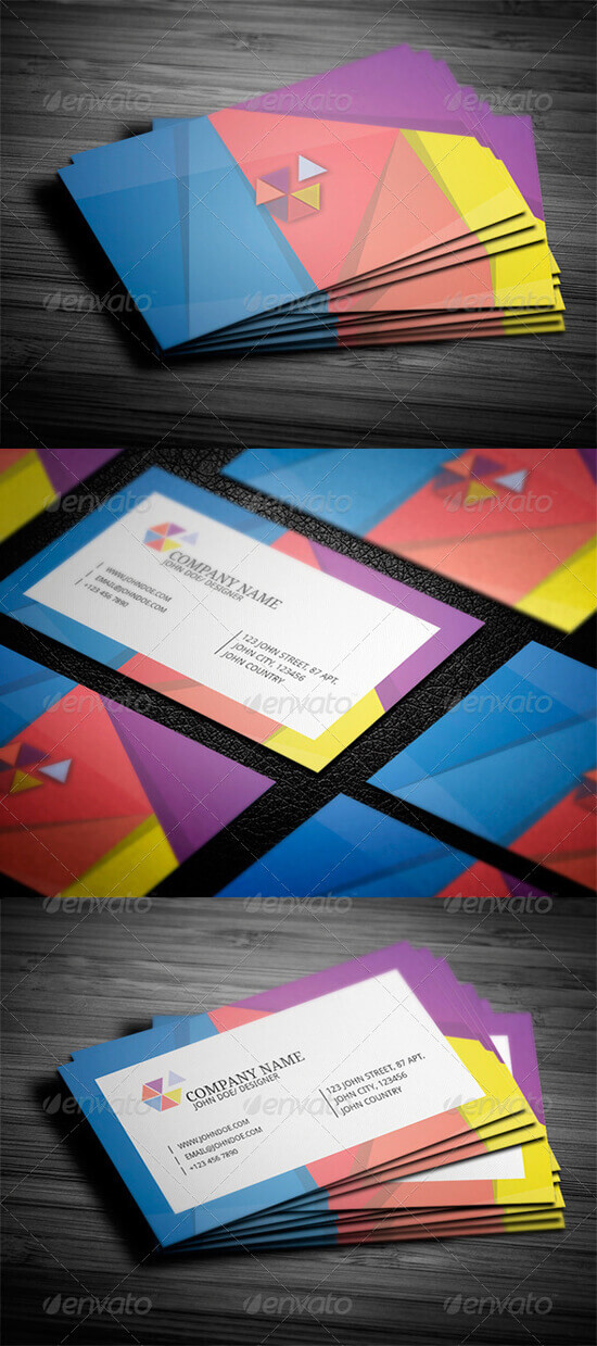Geometric Style Business Card by vitalyvelygo