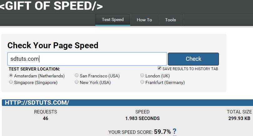 GiftOfSpeed: Test & Optimize Website Speed
