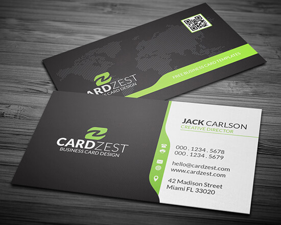 Global Map Corporate Business Card Template by mengloong