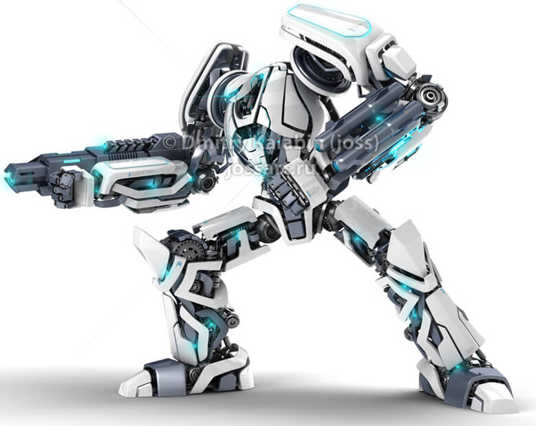 Guardor 3d robot by ~jossdiim
