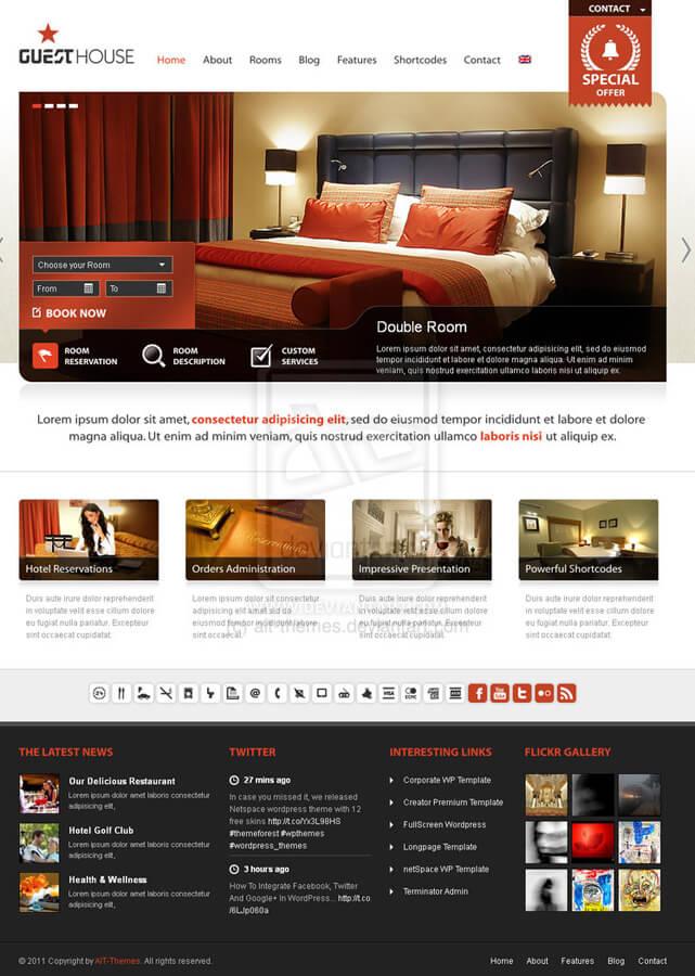 Guesthouse Premium WordPress Theme by aitthemes