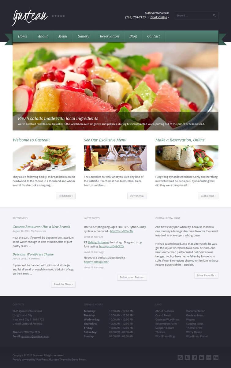 Gusteau WordPress Theme by PremiumThemes