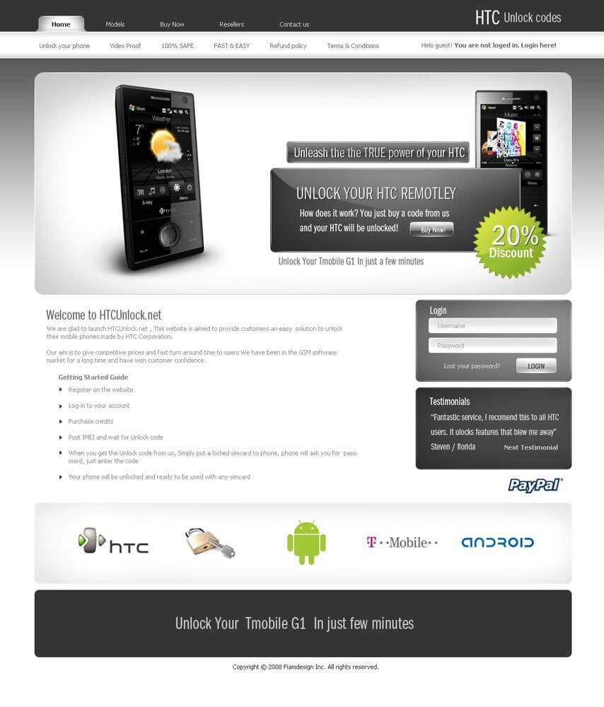 HTC unlock codes by FIAMdesign