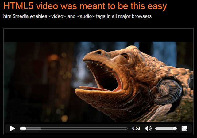 HTML5 video and audio
