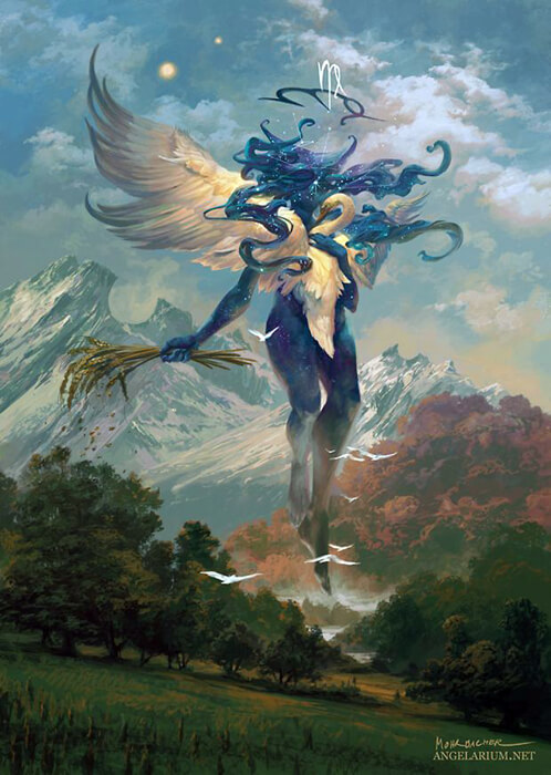Hamaliel, Angel of Virgo by PeteMohrbacher