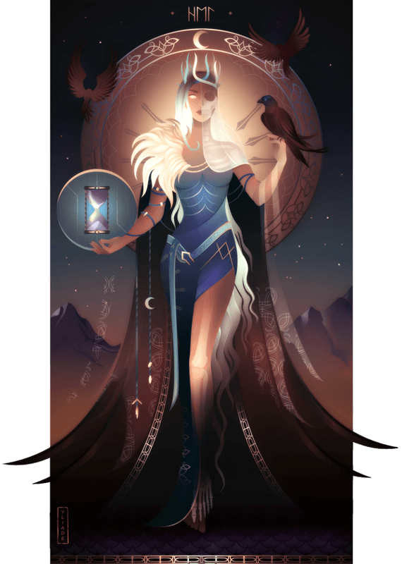 Hel ~ Norse Gods and Goddesses by Yliade