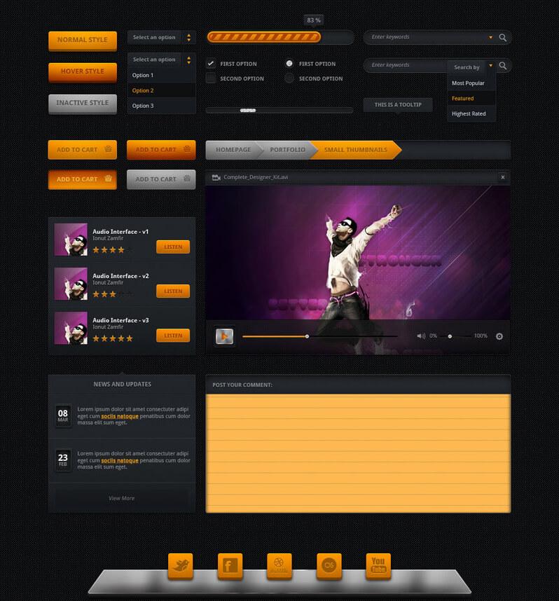 Huge UI Kits by ~ionuss