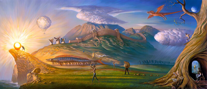 Human Way by Vladimir Kush (his most recent work) by KushFineArt