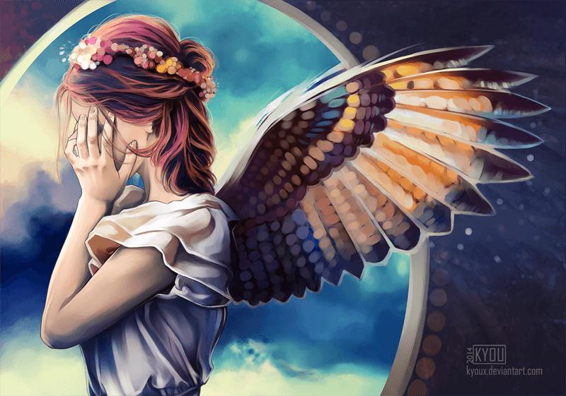 I see you little angel by KiyuMiyu