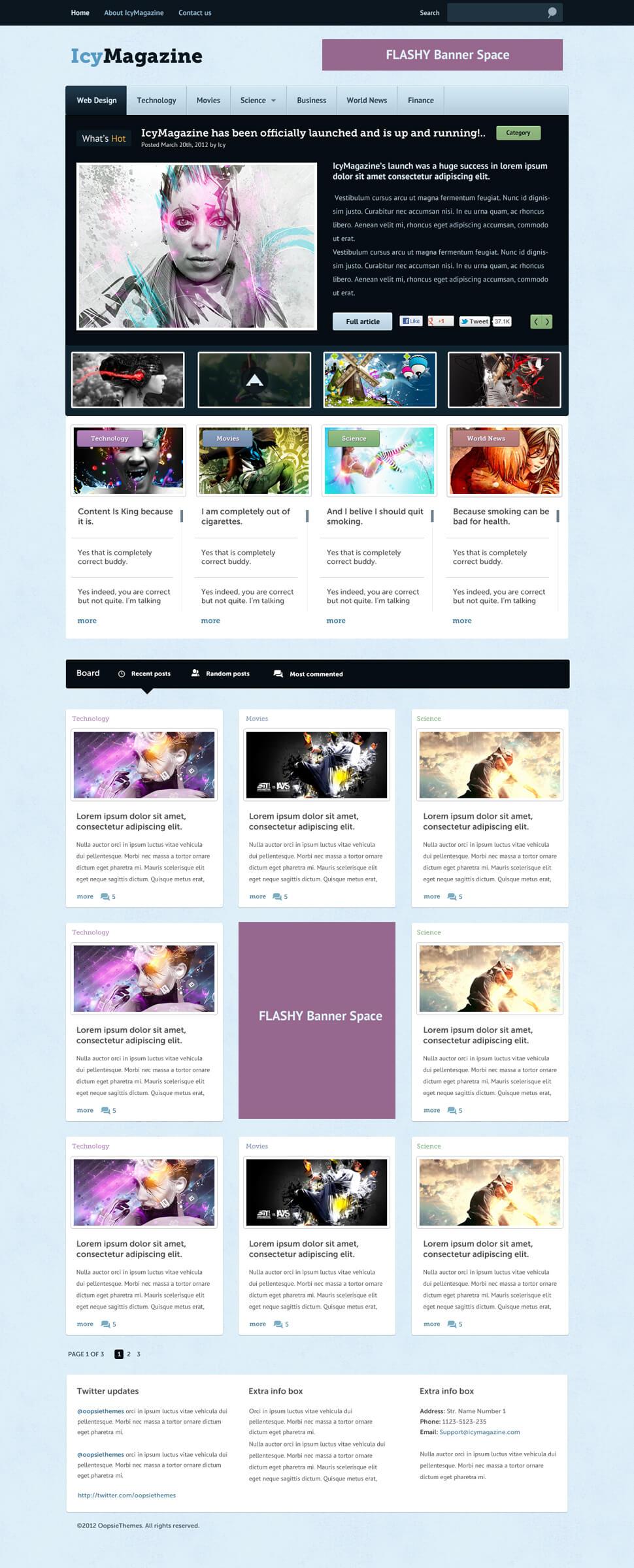 IcyMagazine by C4br4x1z
