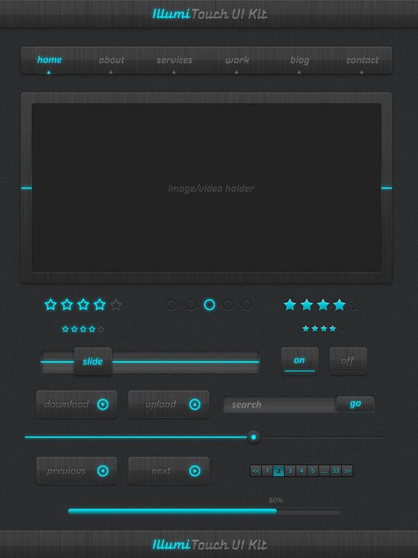 IllumiTouch UI Kit by ~PAYMON