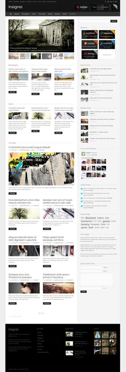 Insignia - a WordPress Magazine, Community, Blog t by alliase