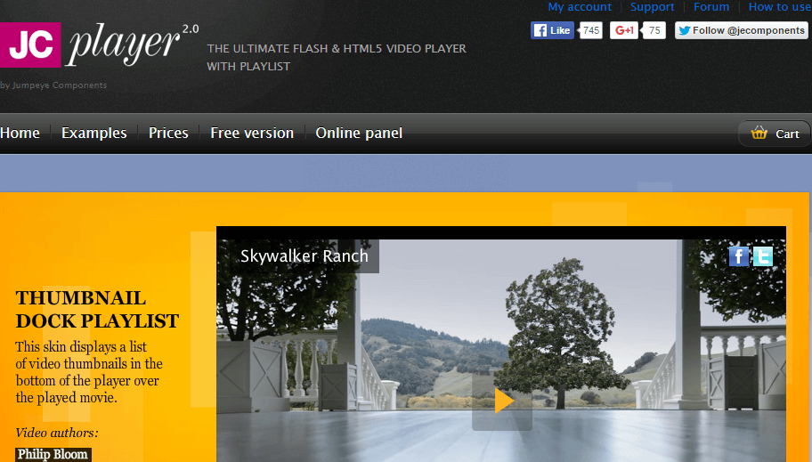 JC Player: Flash & HTML5 video player