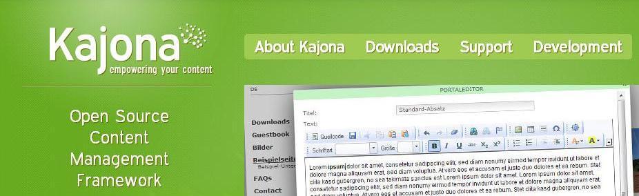 Kajona - Open Source Content Management Framework