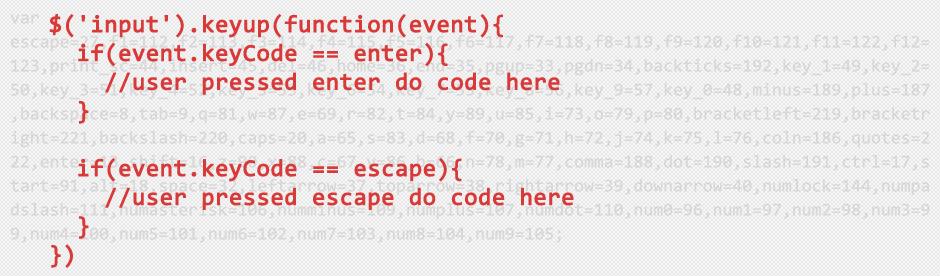 Keycodes in javascript