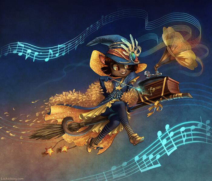 Lackadaisy Jazzwitch by tracyjb