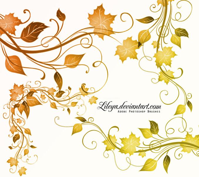 Leaves Corners by Lileya