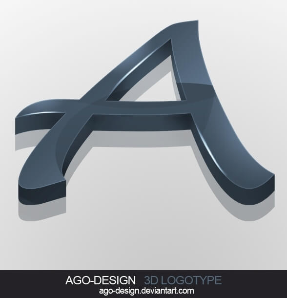 Letter-A 3D Logotype by Ago-Design