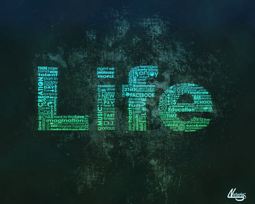 Life look through typografy by ~lndeed