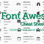 List of Font Awesome content cheat sheet updated