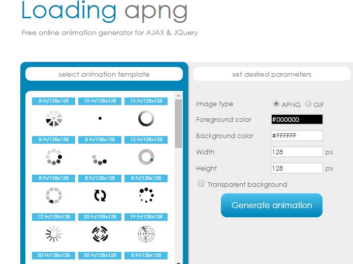 Loading APNG free online generator