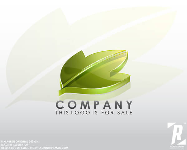 Logo15 - 3d-leaf by rixlauren