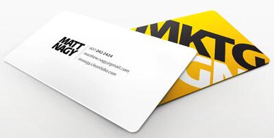 MKTG DSGN business card by blueslaad