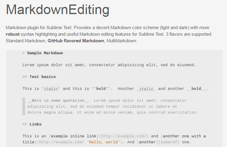 Markdown?Editing by SublimeText-Markdown