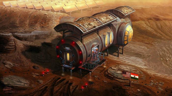 Martian Base by JonHrubesch