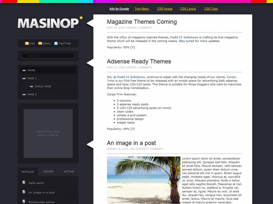 Masinop WordPress Theme by dulcepixels