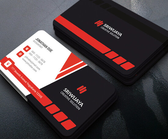 Modern Corporate Business Card by GOWESDESIGN