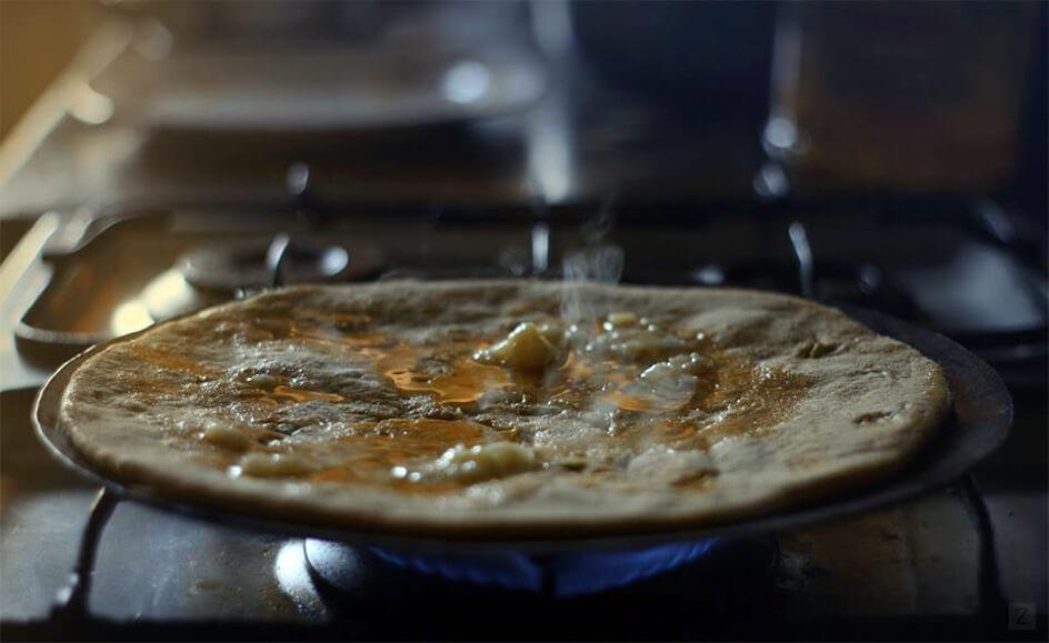 Mooli Ka Paratha (in the making) by Zain Adeel