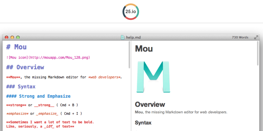 Mou Markdown editor for developers