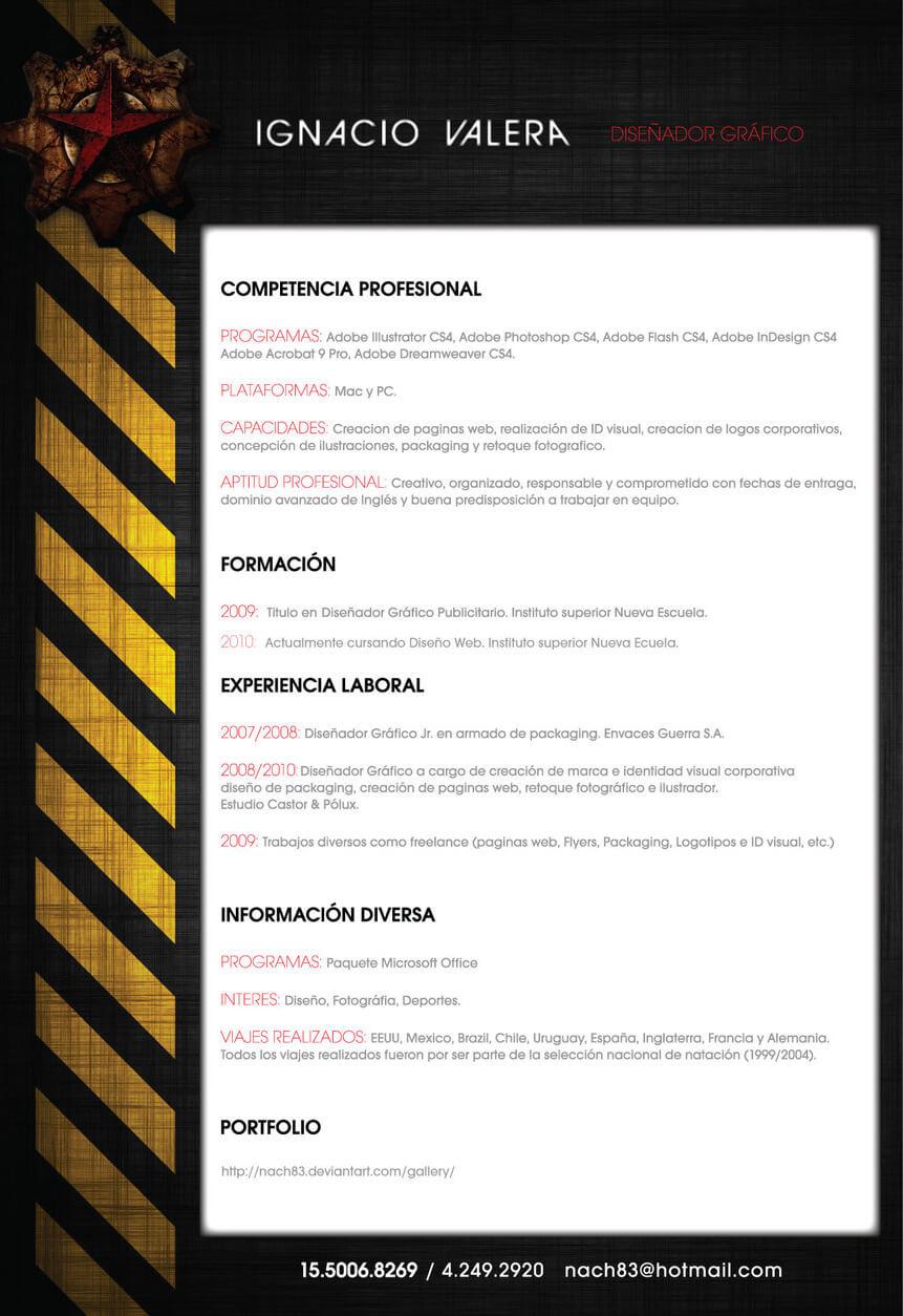 My CV by ~Nach83