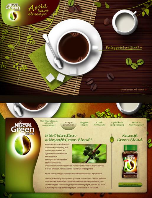 Nescafe Green Blend promo site by ~floydworx