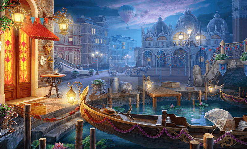 Night in Venice by AAAGameArtStudio