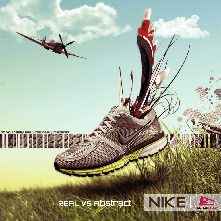 Nike shoe by Tsunamy boy