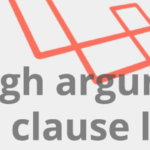 Not enough arguments for the on clause laravel