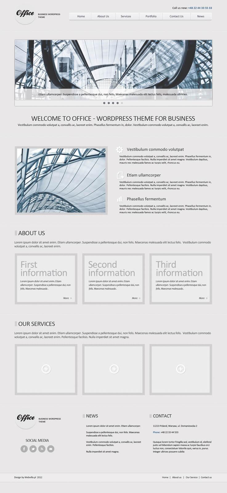 Office - wordpress theme by niedziela2005