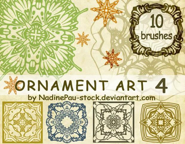 Ornament Art 4 by NadinePau-stock