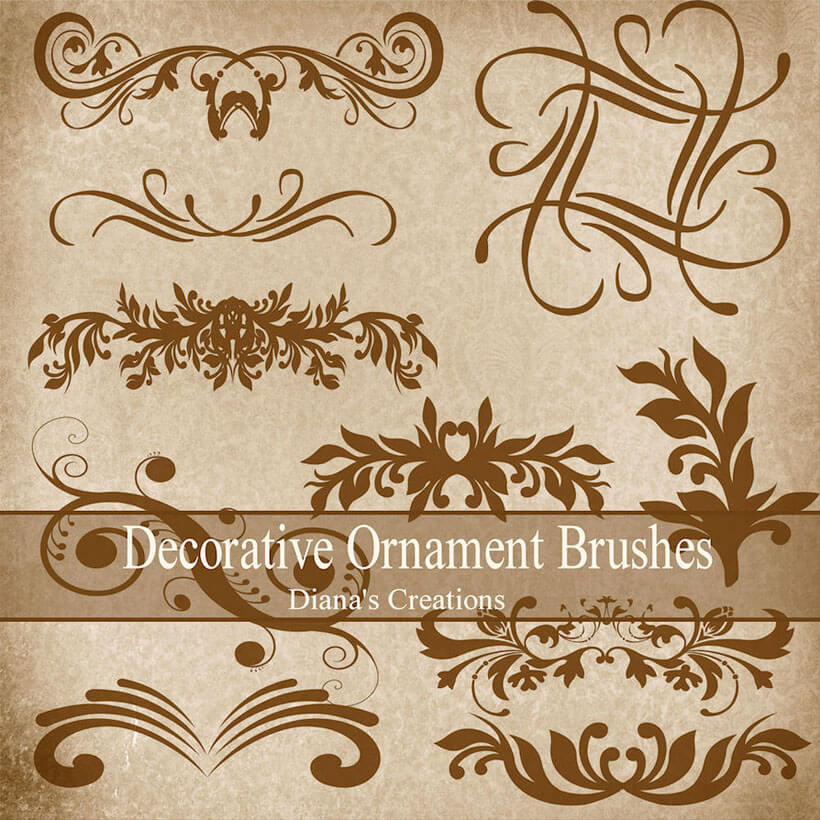 Featured Photoshop Ornament Brushes ABR Free Download