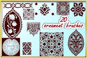Ornament brushes by AnastasieLys
