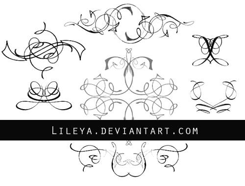 - Ornamental dividers set 2 - by Lileya