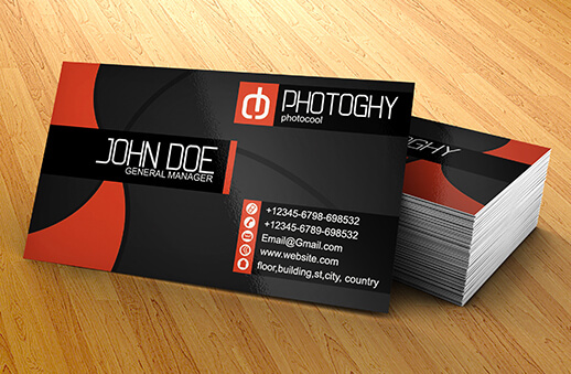 PHOTOGRAPHER BUSINESS CARD by r-dowaik