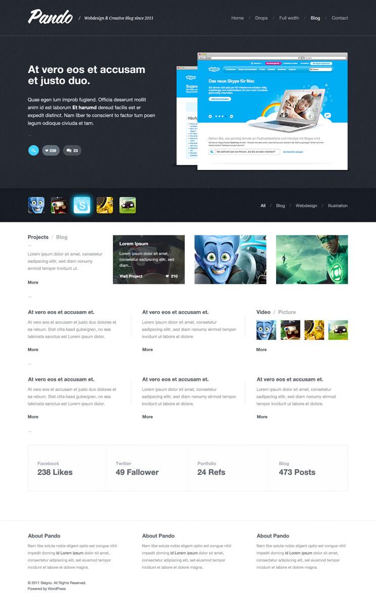 Pando - WordPress Theme by cPl92
