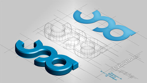 Passage a la 3D du logo by Studio-U16