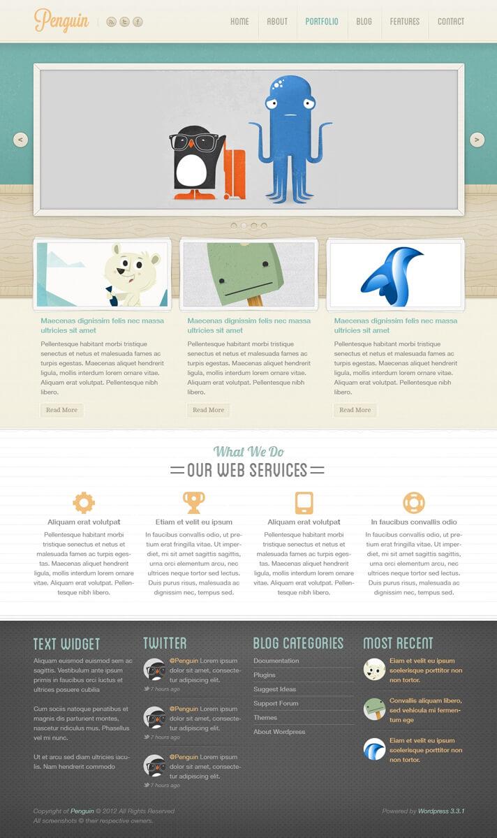 Penguin - WordPress Theme by The-Returnx