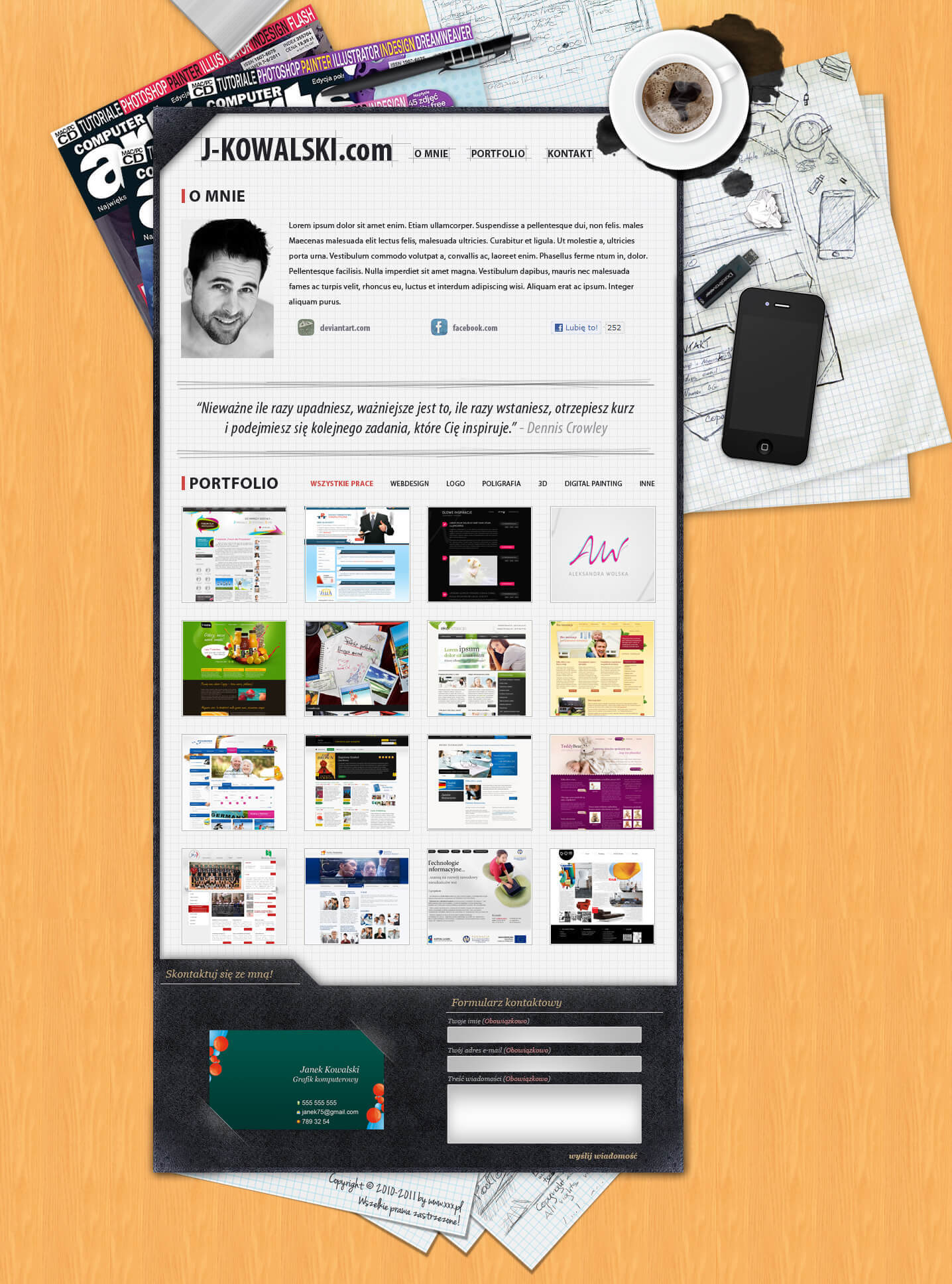 Personal website 1 by ~zagiPL